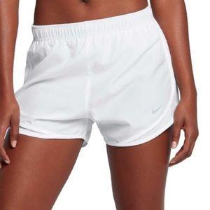 White Nike Dry Tempo Shorts- Dri-fit